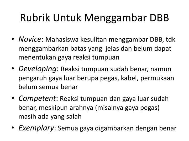 Rubrik Untuk Menggambar DBB