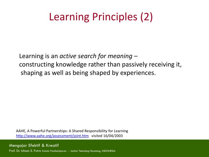 Learning Principles (2)