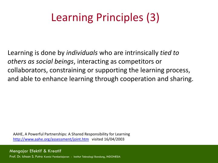 Learning Principles (3)