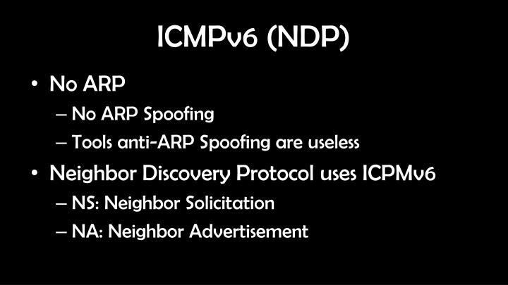ICMPv6 (NDP)