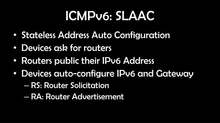 ICMPv6: SLAAC