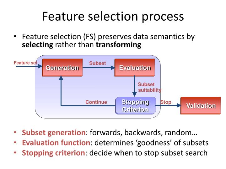 Feature selection process