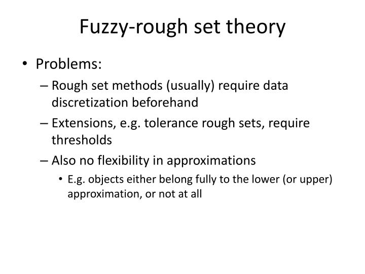 Fuzzy-rough set theory