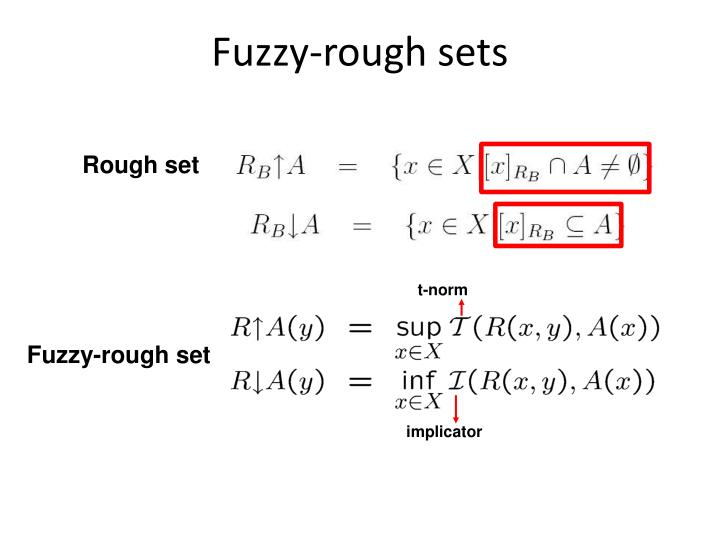 Fuzzy-rough sets