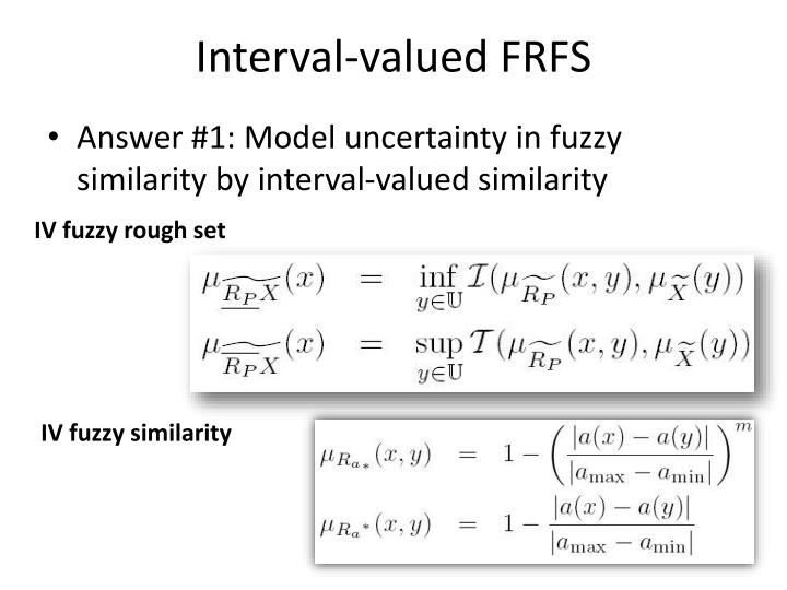 Interval-valued FRFS