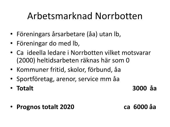 Arbetsmarknad Norrbotten
