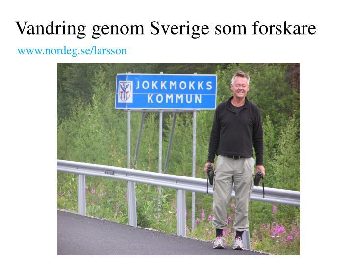 Vandring genom Sverige som