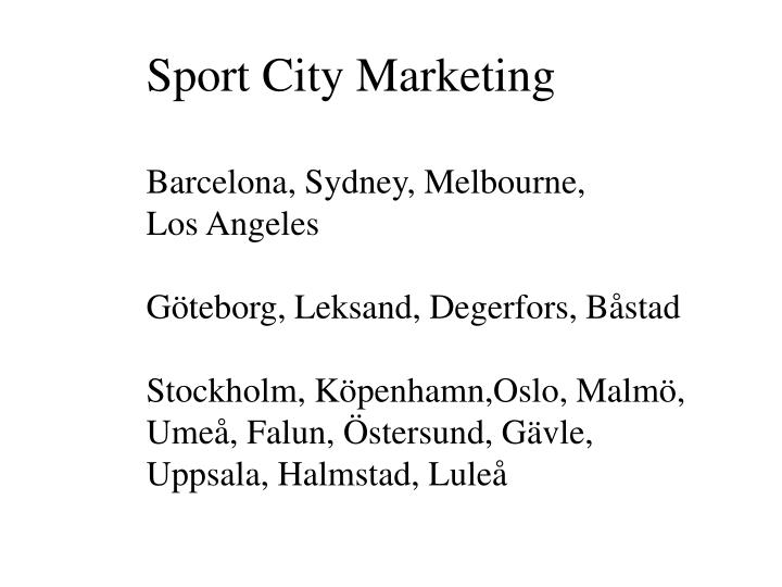 Sport City Marketing