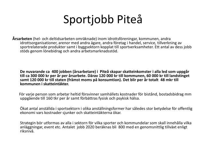 Sportjobb Piteå