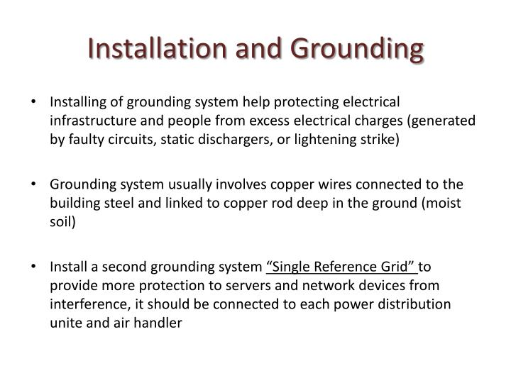 Installation and Grounding