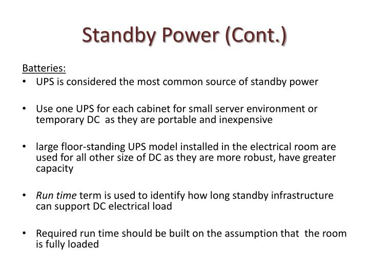 Standby Power (Cont.)