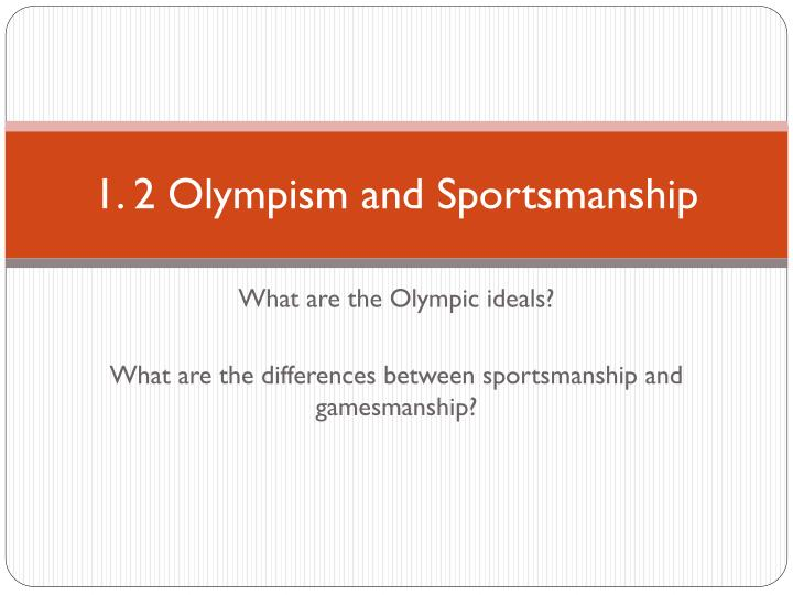 1 2 olympism and sportsmanship