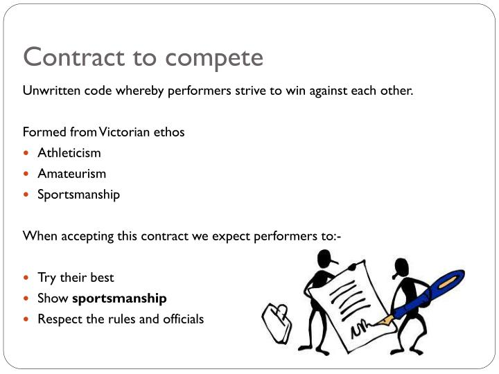 Contract to compet