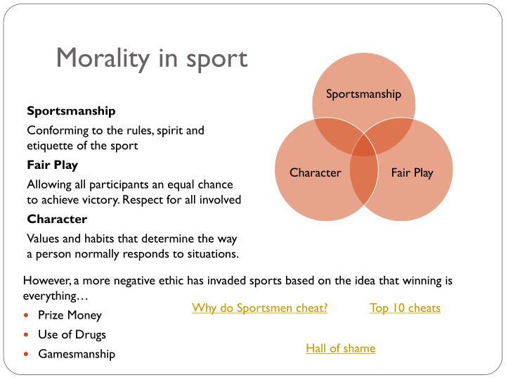 Morality in sport