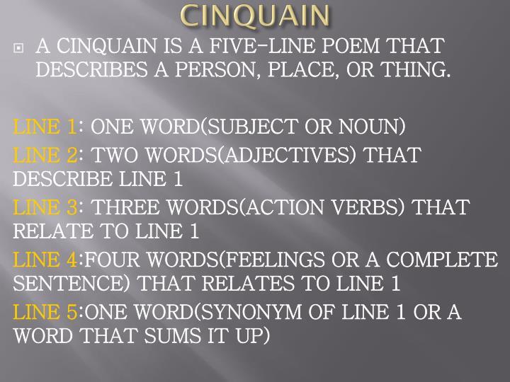 CINQUAIN