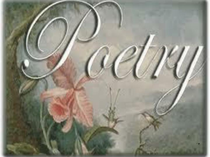 Poetry is take 5 minutes to write about your feelings towards poetry