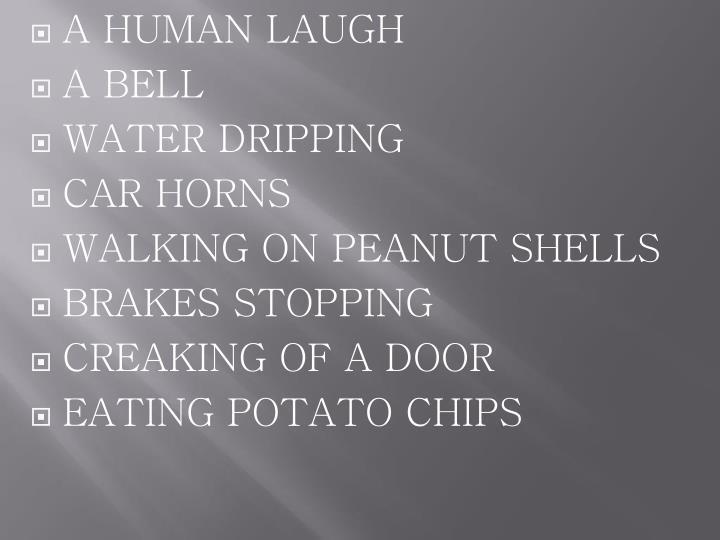 a human