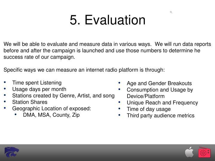 5. Evaluation