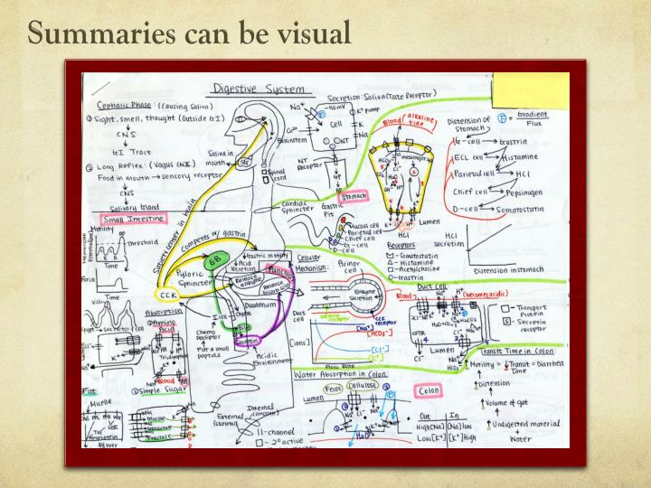 Summaries can be visual
