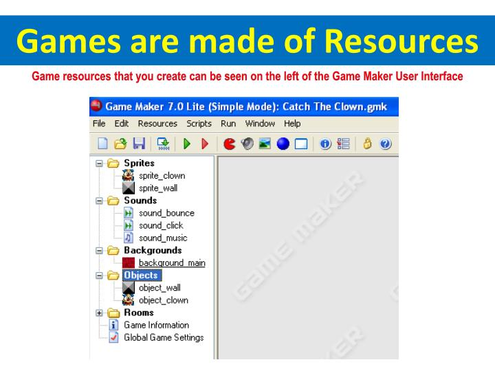 Games are made of Resources