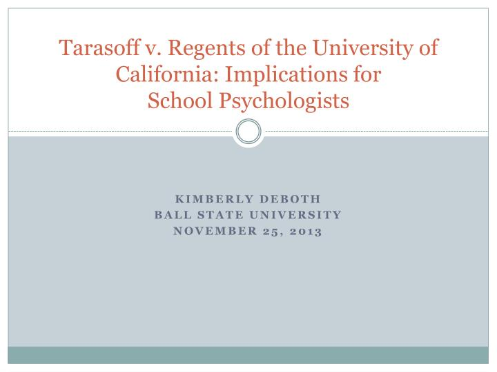 tarasoff vs regents