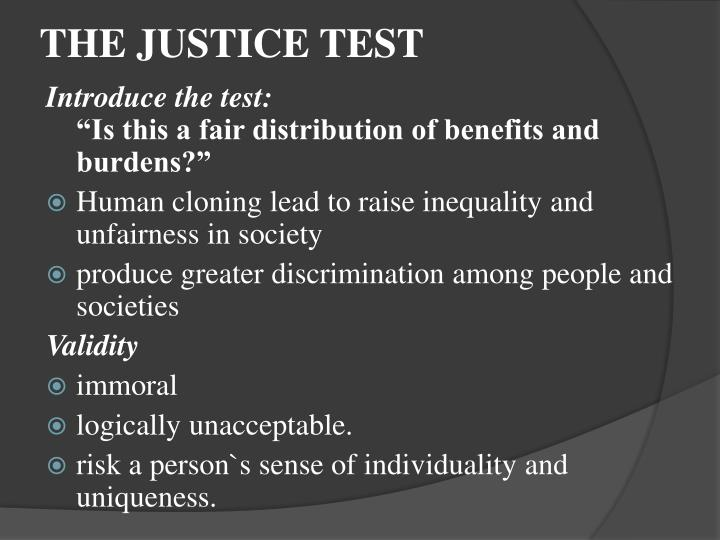 THE JUSTICE TEST