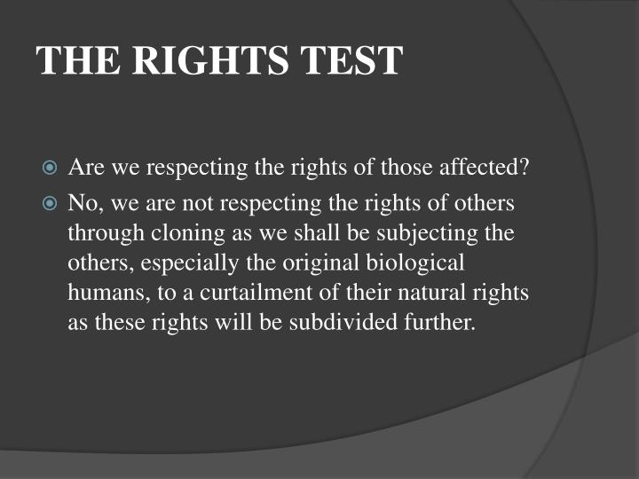THE RIGHTS TEST