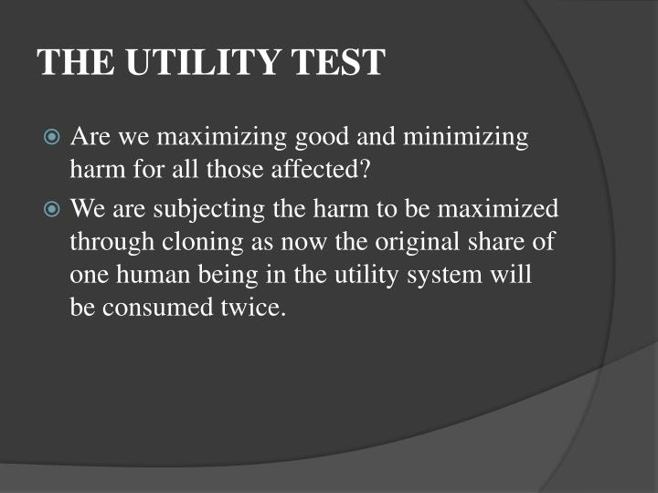 THE UTILITY TEST
