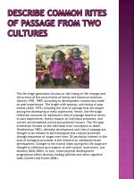 describe common rites of passage from two cultures