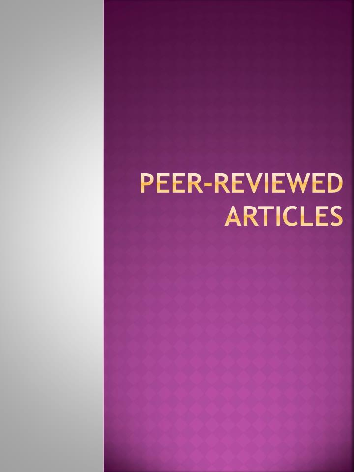 Peer-reviewed articles