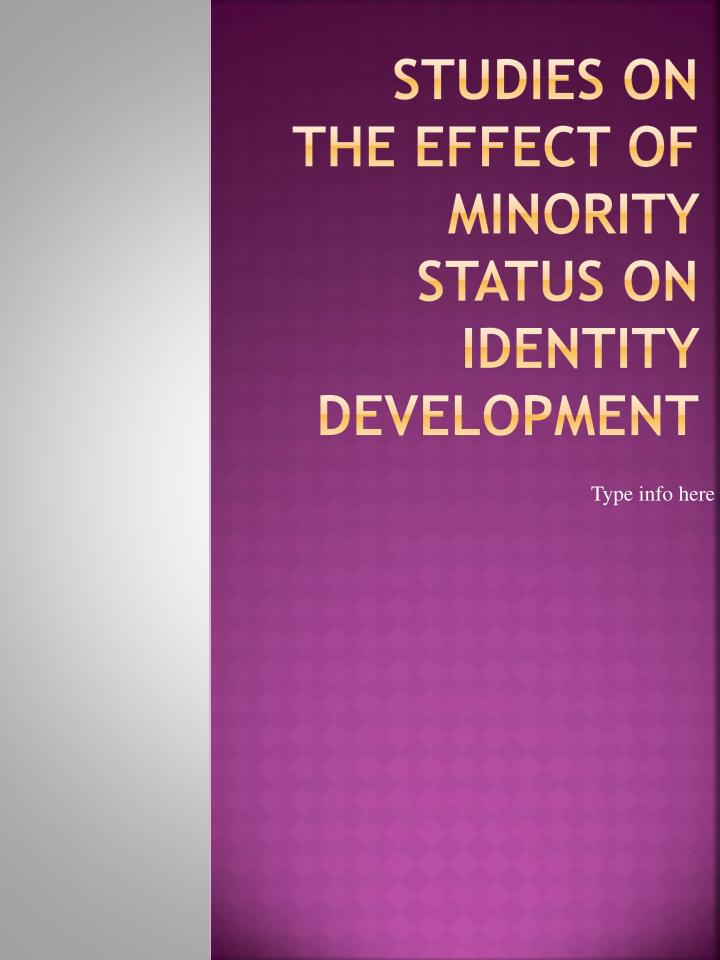 studies on the effect of minority status on identity development
