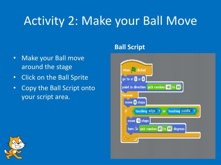 Activity 2: Make your Ball Move