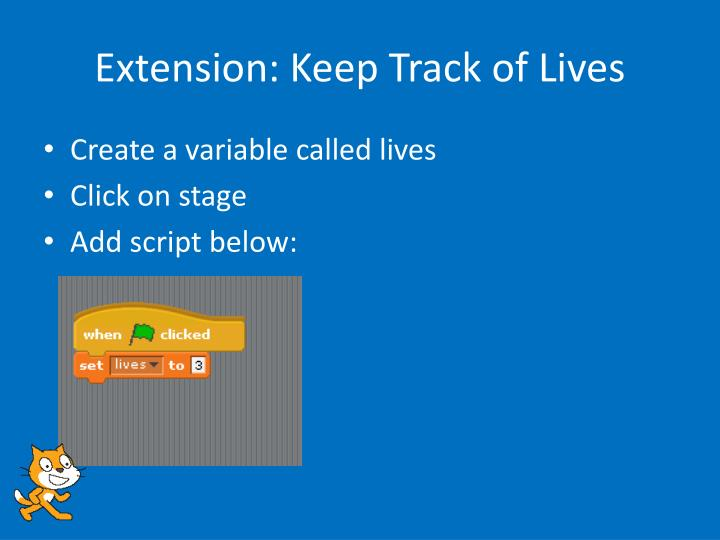 Extension: Keep Track of Lives