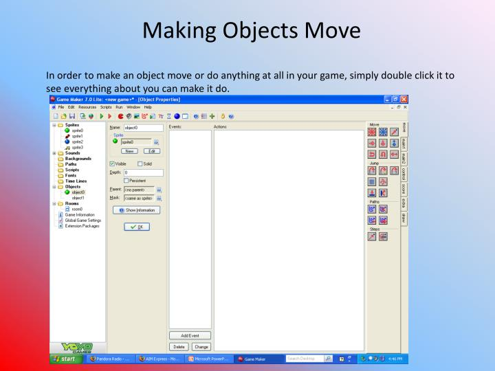 Making Objects Move
