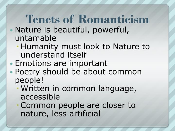 Tenets of Romanticism