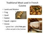 traditional meat used in french cuisine