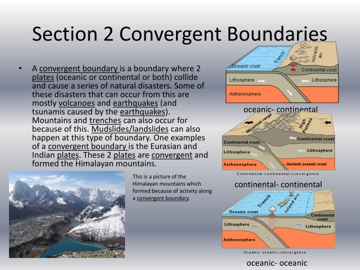 Section 2 Convergent Boundaries