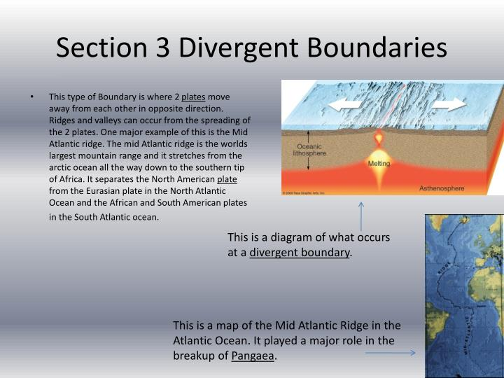 Section 3 Divergent Boundaries