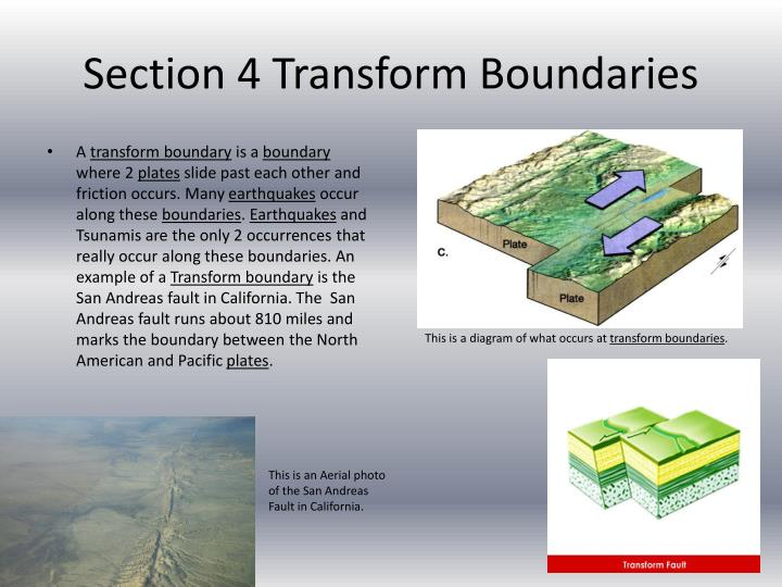Section 4 Transform Boundaries