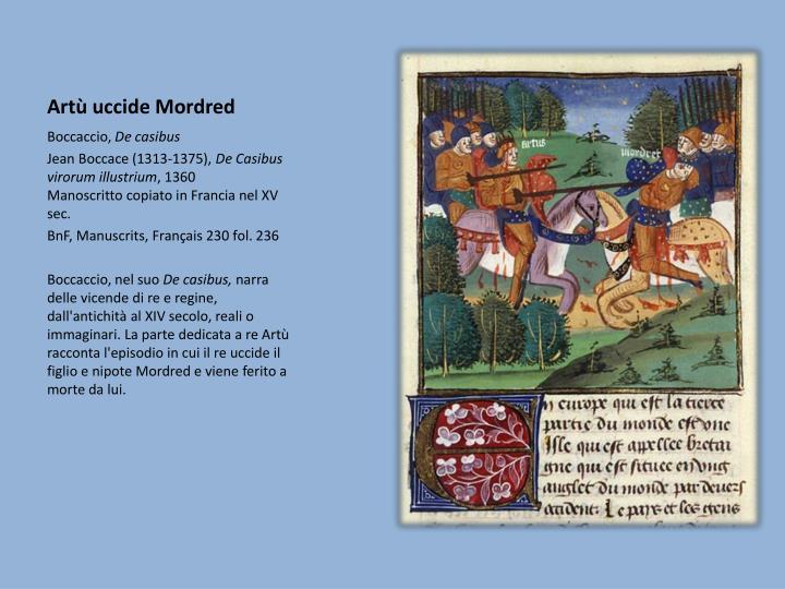 Artù uccide Mordred