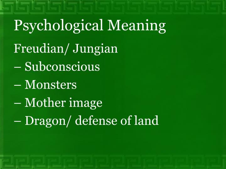 Psychological Meaning