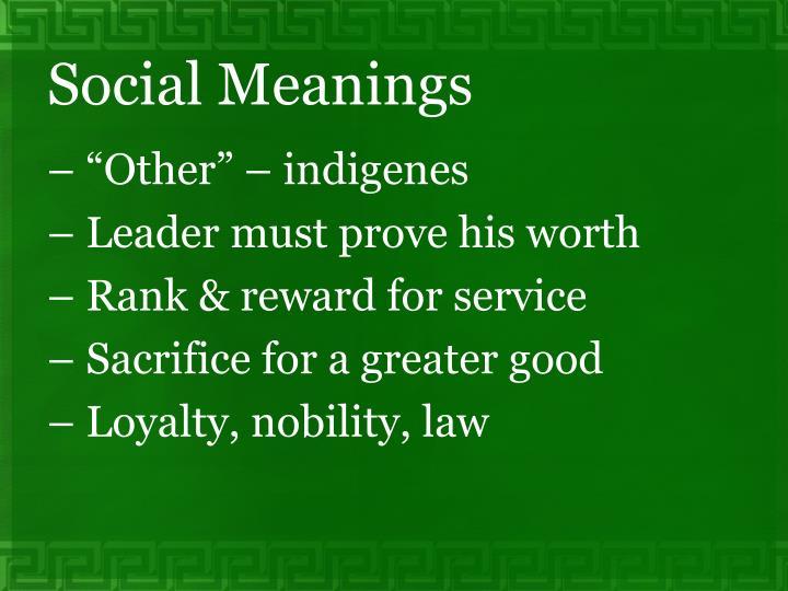 Social Meanings
