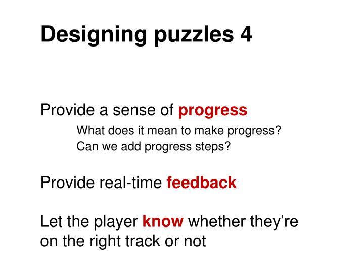 Designing puzzles 4