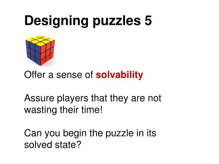 Designing puzzles 5