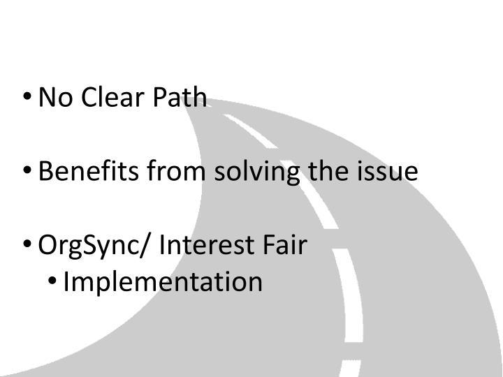 No Clear Path