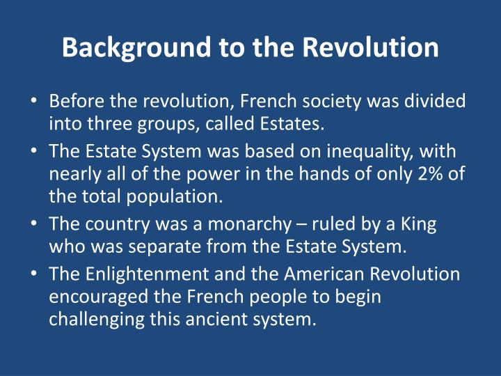 Background to the Revolution
