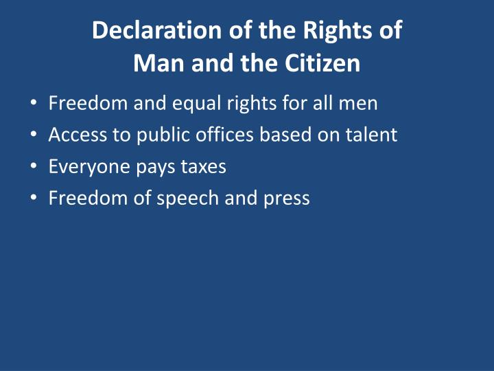 Declaration of the Rights of