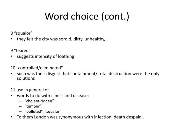 Word choice (cont.)