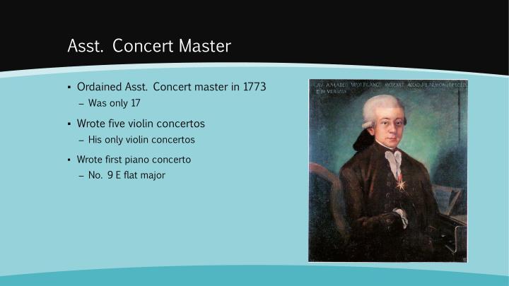 Asst. Concert Master