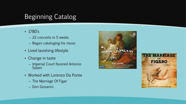 Beginning Catalog